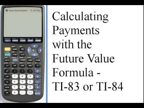 Calculating Payments for Future Value - TI-83/84 141-34