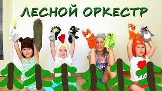 Лесной ОРКЕСТР Кукольный СПЕКТАКЛЬ для малышей Оркестр шумовых инструментов