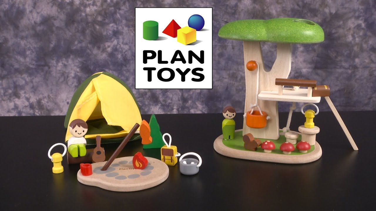 camping set u0026 tree house from plan toys youtube