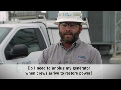 Should I Unplug My Generator When Crews Arrive to Restore Power?
