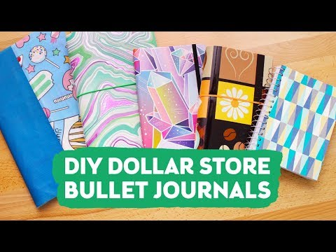DIY Dollar Store Bullet Journals | Sea Lemon