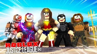 ROBLOX - CELEBRATING THE JUSTICE LEAGUE!!!