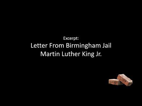 Racism - Letter From Birmingham Jail Excerpt