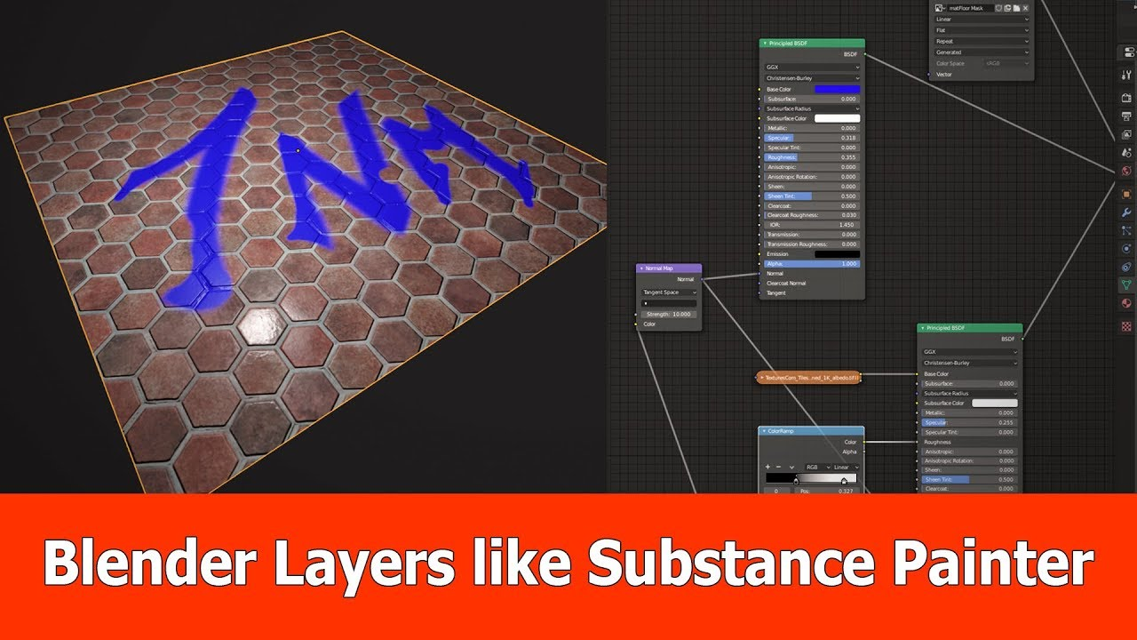 Blender 2 8 Texture Paint with Layers like Substance Painter
