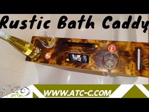 How to make a simple bath caddy // DIY