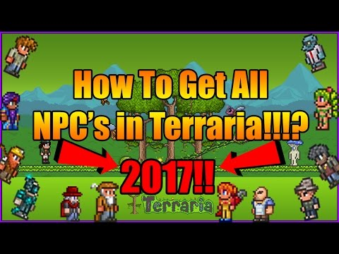 How To Get All NPC's in Terraria (2017-2018!!!)