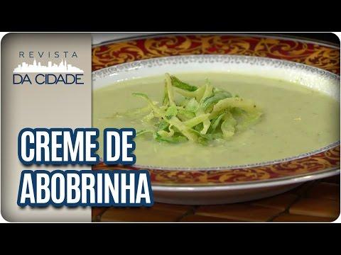 Receita de Creme de Abobrinha - Revista da Cidade (24/04/2017)