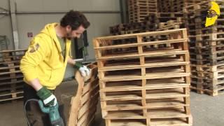 Loungesessel aus Paletten -  einfach zusammen gebaut!