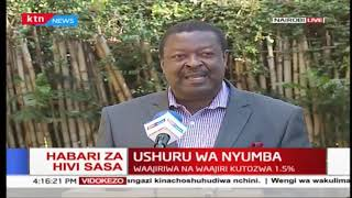 Happening now: Mudavadi describes 1.5% housing levy as Insensitive, burdensome and unlawful