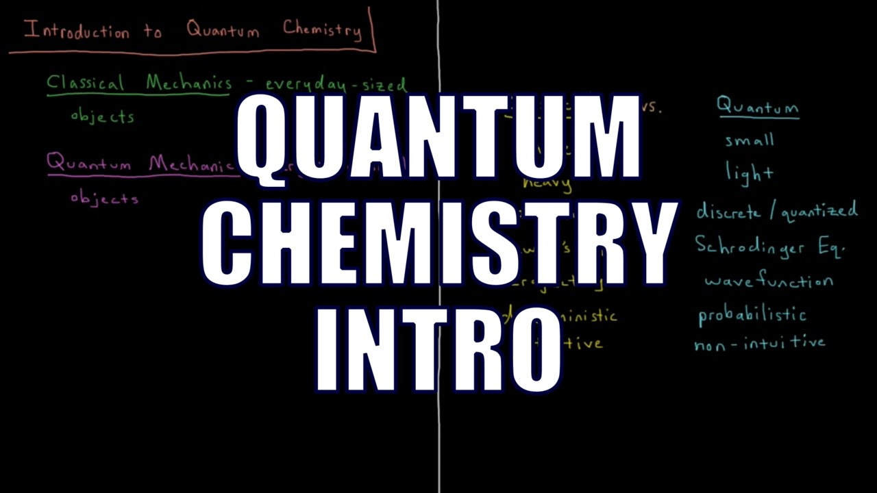 quantum chemistry 0 1 introduction youtube