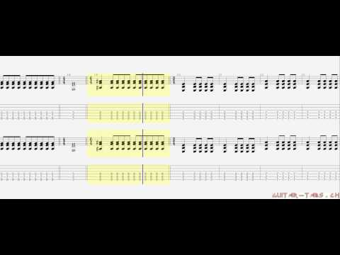 Avenged Sevenfold Tabs - Not Ready To Die (rhythm)