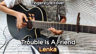 Lenka - Trouble Is A Friend | Fingerstyle cover + Drum | Faiz Fezz
