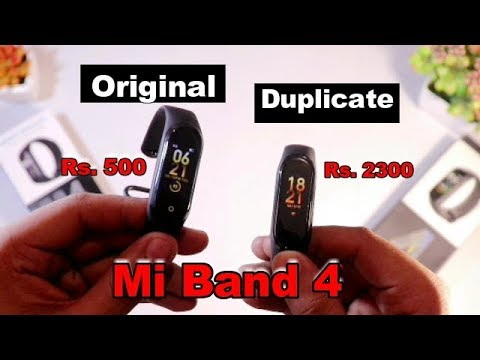 Fake Mi Band 4 Vs Original Mi Band 4 : 500 Mein Mi Band 4 wala saara features