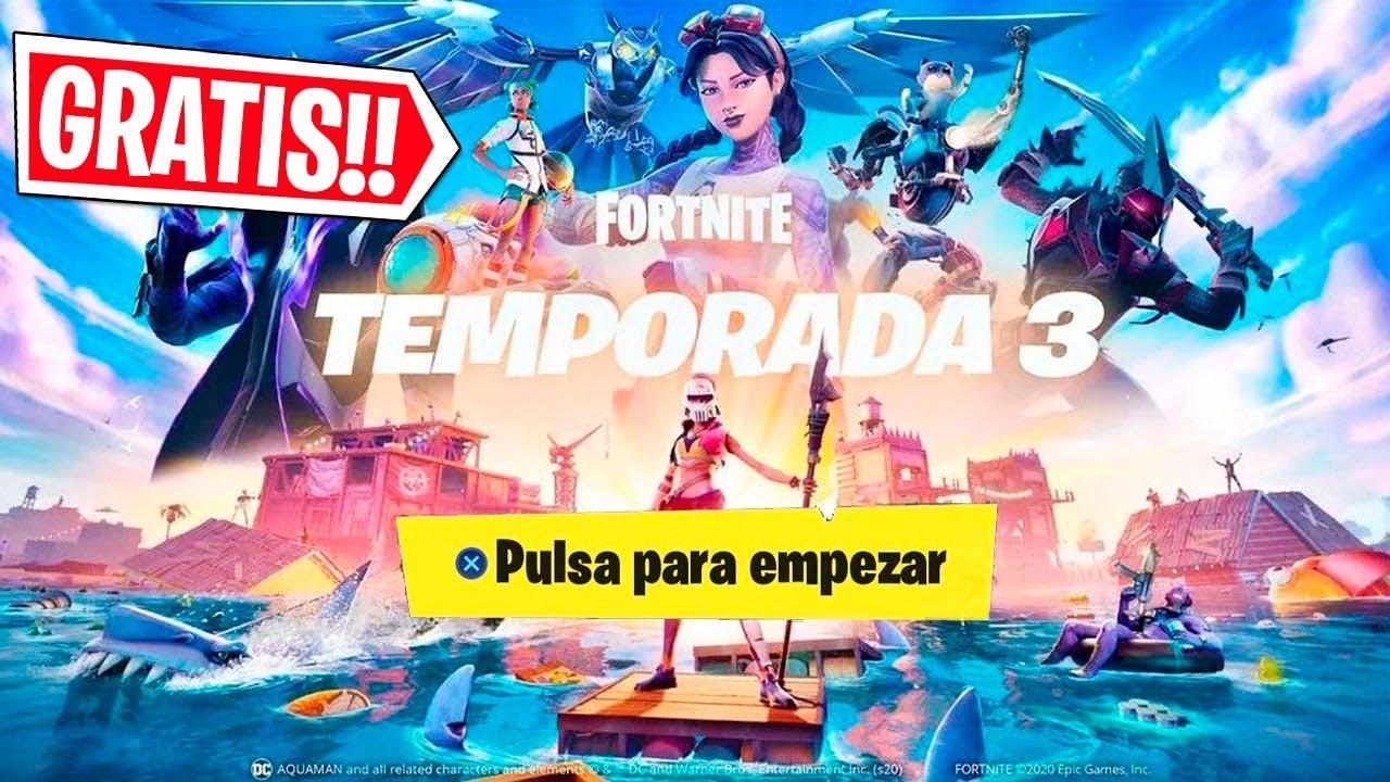 ¡GRATIS! AHORA TEMPORADA 3 CON NUEVOS SECRETOS , FORTNITE EN DIRECTO!!