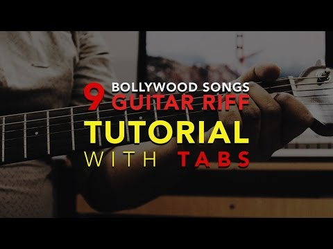 9 Iconic Hindi | Bollywood Song Guitar Riffs | Easy Guitar Tutorial | With On-Screen Tabs