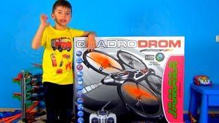 Ринат впервые играет с дроном