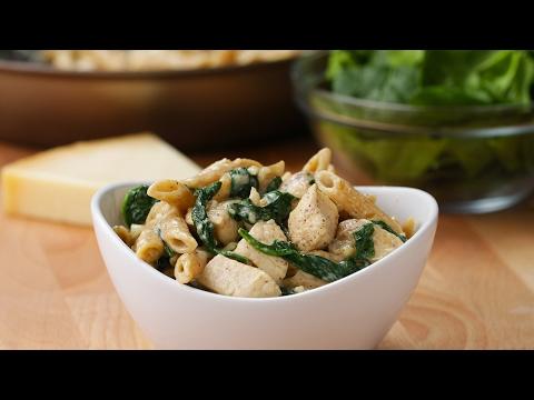 Healthier Chicken Alfredo Pasta