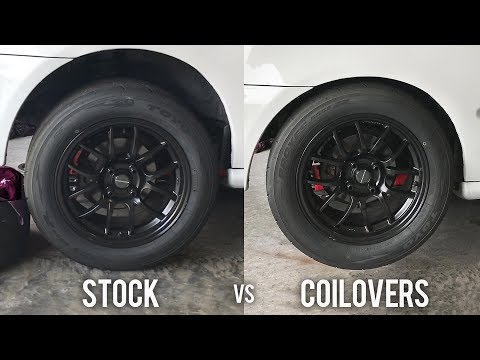 COILOVERS vs STOCK SUSPENSION on track review | CIVIC EG