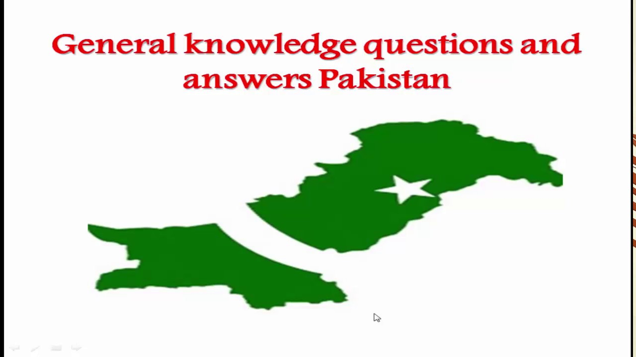 General Knowledge questions and answers Pakistan