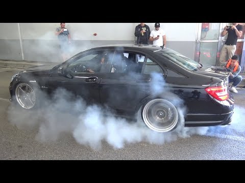 BURNOUTS & MADNESS in a Tunnel!! - CRAZY Tuned Cars LOUD Sounds, Launch Controls & Accelerations!!
