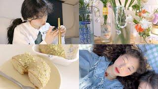 소확행 vlog 목걸이, 반지, 꽃다발 만드는 DIY의…