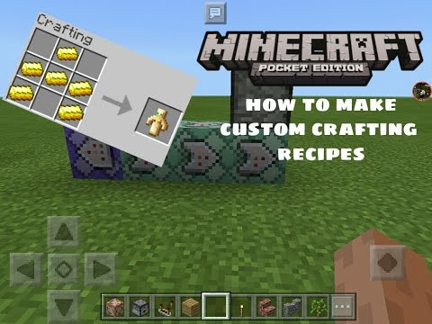 how to build crafting table in minecraft pe