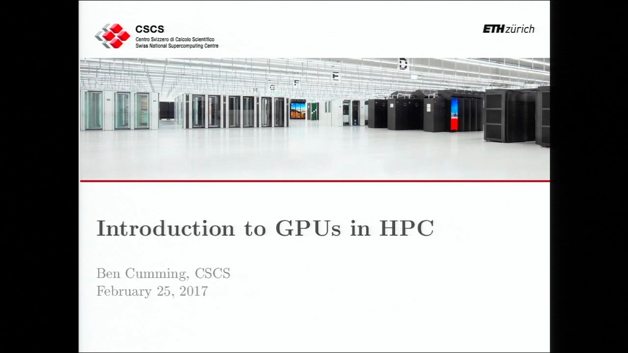 Introduction to GPUs in HPC - insideHPC