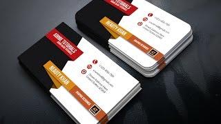 Professional Business Card Design Tutorial  ~ Illustrator cc Tutorial ~ Illustrator  Card Design