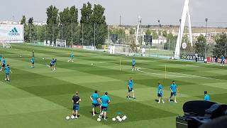 Real madrid open training ahead of champions league final