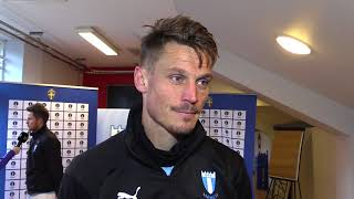 Eftersnack med Markus Rosenberg efter Malmö FF - IFK Göteborg