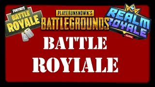 Battle Royale Spiele | Fortnite, PLAYERUNKNOWN´S BATTLEGROUNDS, Realm Royale