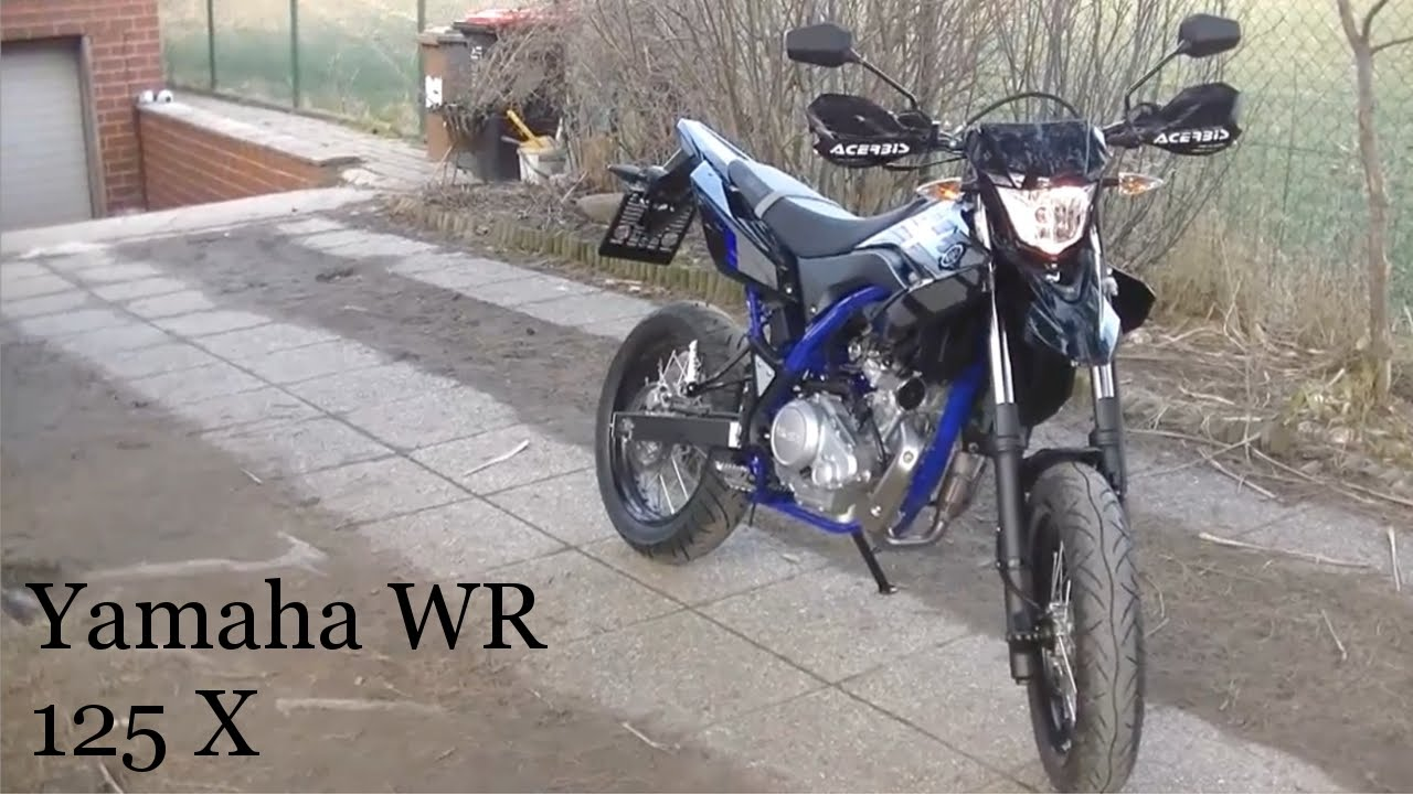 yamaha wr 125 x walk around 2015 black blue youtube. Black Bedroom Furniture Sets. Home Design Ideas
