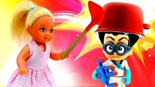 Мультик с игрушками - Герои в масках помогают Штеффи - Игры для детей