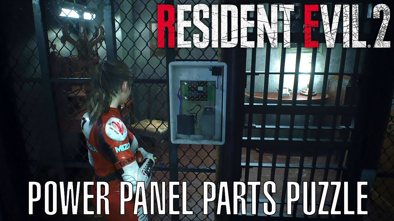Resident Evil 2 Remake - Power Panel Parts Puzzle