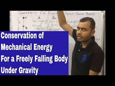 10 ICSE : Conservation OF Mechanical Energy For A Freely Falling Body