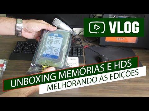 VLOG#9 - UNBOXING MEMÓRIAS E HDS