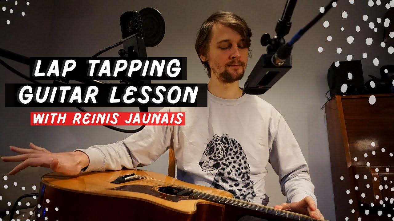 Guitar Lesson: Lap Tapping With Bossa Nova Beat | Black Sand Beach