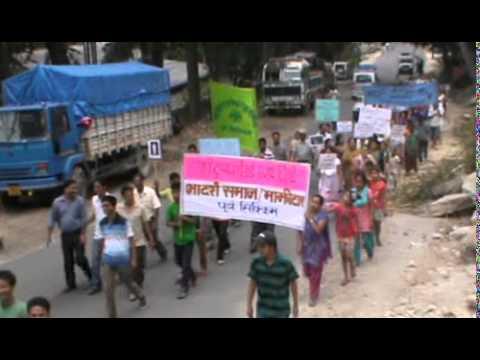 majhitar rally  against rape .