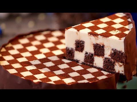 gâteau-«-Échiquier-»-–-un-dessert-qui-fait-venir-l'eau-à-la-bouche-!-|-savoureux.tv
