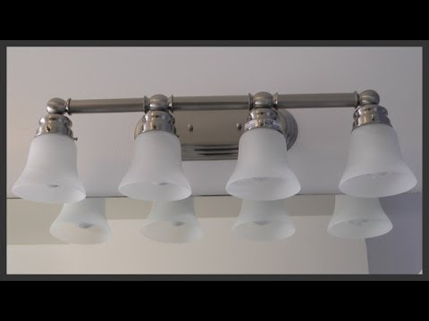 Bathroom vanity light fixture installation - YouTube