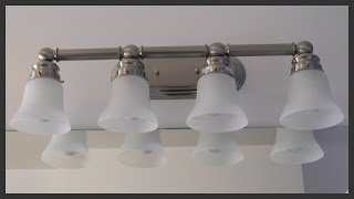 Bathroom vanity light fixture installation