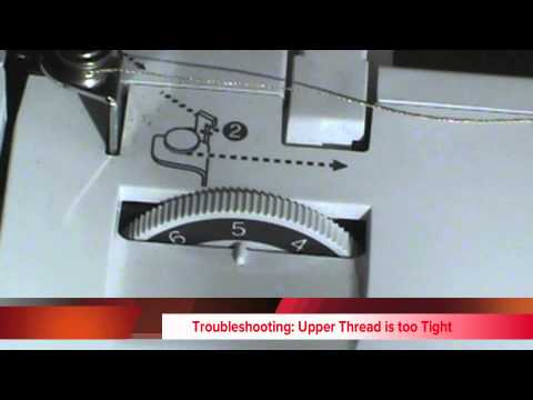 How To Adjust The Thread Tension The Brother SE40 Sewing Machine Best Brother Sewing Machine Presser Foot Tension