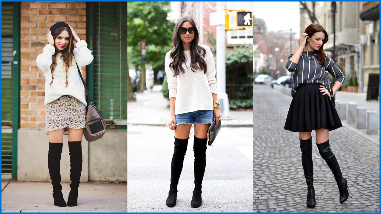 339167d2c29 How to Wear Over The Knee Boots - Outfit Ideas for This Season - YouTube