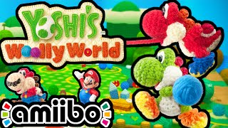 Yoshi's Woolly World PART 1 Gameplay Walkthrough 2 Player Co-Op (World 1 - Mario Amiibo) Wii U