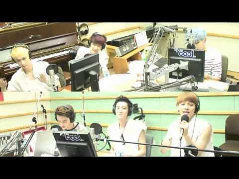 130626 슈키라 EXO 첸,디오,려욱 Sunday Morning Live (Maroon 5 곡)