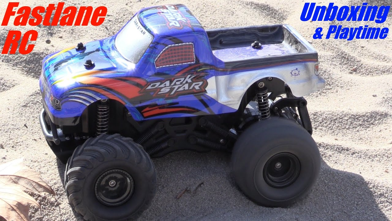 RC Toys: Fastlane Remote Control Monster Truck Dark Star Unboxing ...