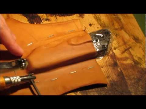 Pocket knife belt pouch leather