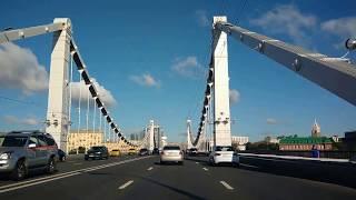 . Москва-Крымский мост. Поездка в автомобиле по городу