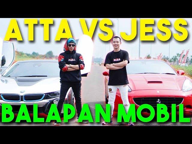 BALAP MOBIL ATTA VS JESS No Limit! i8 VS Ferrari 🔥 NGERI!!