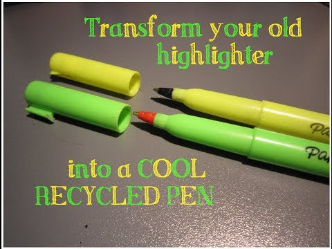 DIY Highlighter To Pen Fast Easy And Fun Craft